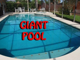 GIANT pool/spa, CLOSE to Disney, GameRm, Free WiFi, Completely private backyard