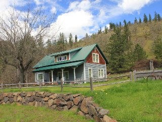 Historic waterfront farmhouse w/river access & mountain views, dogs OK!
