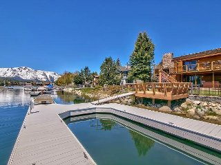 Tahoe Keys Perfection-Elegant Living-Boat Dock, Pool Table, Spa, Sauna, Views