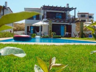 Villa with private swimming pool, garden& sea-view, Sani