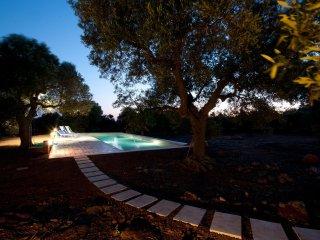 White pool villa