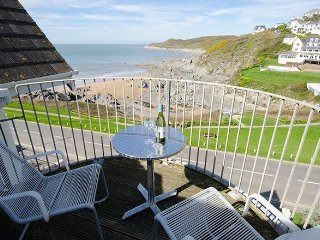 High Tides penthouse apartment with stunning sea views above Combesgate Beach