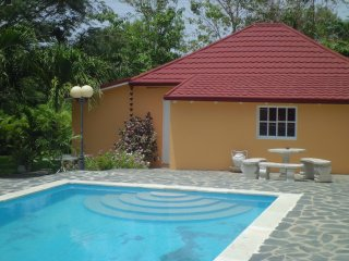The 2BR 1BA...Wendy's pool house w/55'HD & jacuzzi at Villa Morales