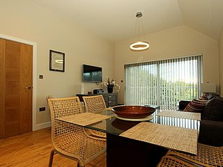 Lounge with access to large balcony and views of Laxey valley