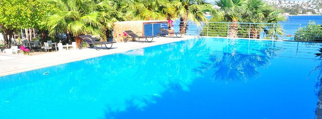 Bodrum Bitez Sea View Apartment With Swimming Pool At The Beach # 527