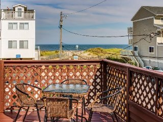 Cozy seaside escape with ocean view from balcony - just 30 ft. from the beach!