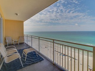 Stunning beachfront condo with shared pool and amazing ocean views!