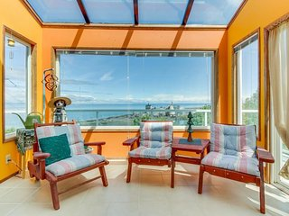 Family-friendly home with views of Port Angeles Harbor & game room.