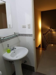 As stated, your shared bath/shower for Bedrooms 2 & 3 are step away from your rooms among soft lites