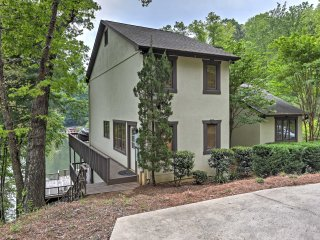 Waterfront Lake Lure Home w/ 2-Level Deck & Views!