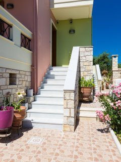 entrance of villa from yard