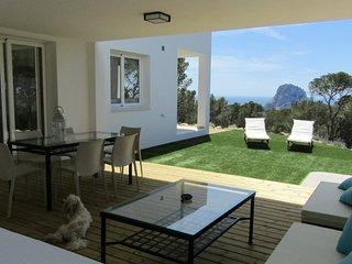Ses Abelles, villa para 6 personas con vistas a Es Vedra