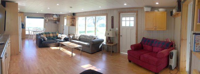 Lots of room to relax, play board games, etc.