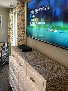 55 inch smart UHD LG TV in Bedroom
