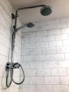 Rain Shower Head in Bathroom