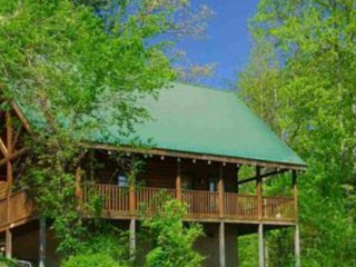 A Bears Hideaway Log Cabin Smoky Mountains Pool WiFi Mtn Views 1 mile to Prkwy