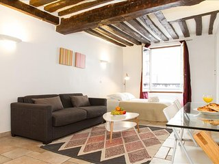 1013. STEPS FROM THE LOUVRE & TUILERIES GARDENS IN CENTRAL PARIS-SPACIOUS STUDIO