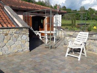 La casa dei sogni: lungo la via Francigena con terrazza, giardino e ruscello