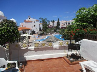 Fairways Club Amarilla Golf  Apartment Terrace overlooking heated pool 5 min sea