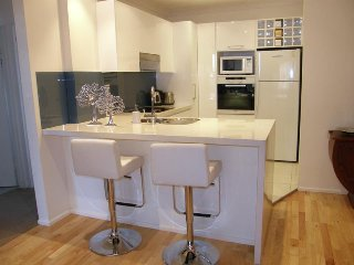 Fully equipped kitchen, breakfast bar and laundry.