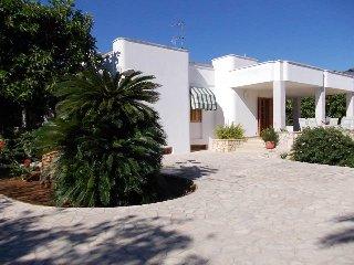 Villa a 300 mt. dal mare con verande e giardino fino a 5 p.letto