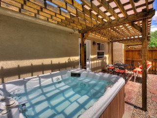 A private hot tub, shared pool, great views, and dog-friendly environment await!