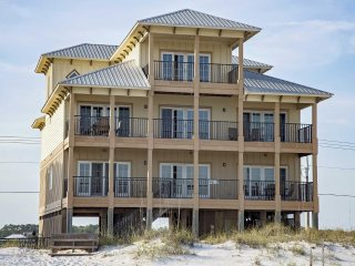9 BR ~ Gulf Front ~ Private Pool ~ Sleeps 30 ~ Sun N Sand Beach House Gulf Shore