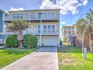 NEW! 3BR Kure Beach Townhome w/ Deck & Ocean View!