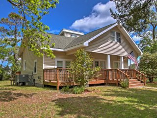 Atlantic Home w/ Wraparound Deck - 2 Min to Beach!