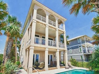 3 story Gulf front home 3 bedroom 3 bath sleeps 10 with Private Heated pool, Panama City Beach