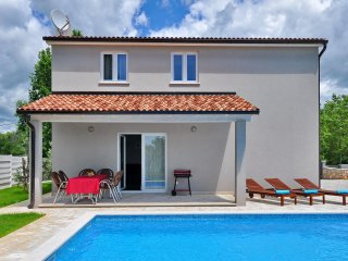 Villa Nika with swimming pool in Muntrilj - Istria