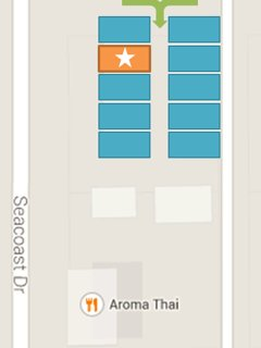 Surf Passage is on the Corner of Seacoast Drive and Dahlia Avenue, with your own Private Garage