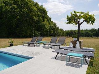 Spacieuse maison d'architecte concept indoor-outdoor 5*