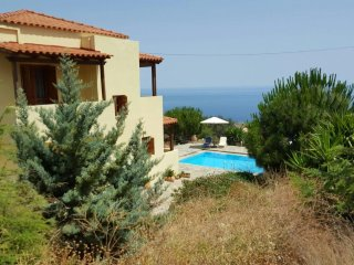 Secluded Private Cretan villa with private pool, parking and garden.