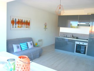 Nice apartment with terrace. Beach at 100m! south exposed. For 4 guests