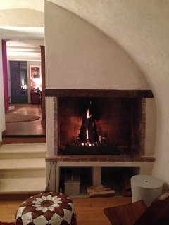 For the off season, a wood-burning fireplace for cosy evenings after your walks