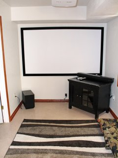 100 inch Screen in Theater Room