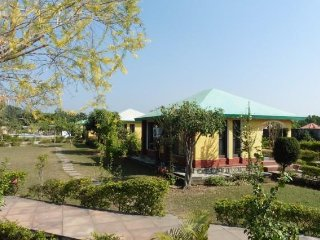 Well-appointed stay with a pool, near Corbett National Park