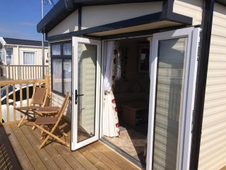 Luxury Caravan on Welsh Coast with shared pool and excellent facilities.