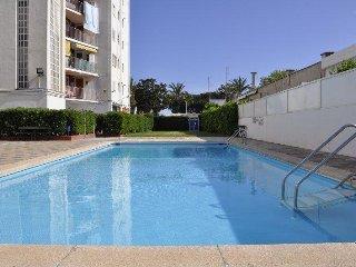 Apartamento con piscinas y vistas al mar en Malgrat de Mar