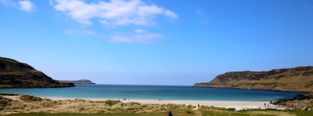 Calgary bay, with it's white sandy beaches, just five miles from your lodge