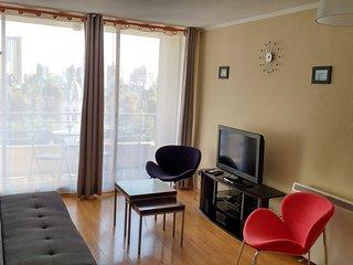 Apartamento em Santiago do Chile (Bairro Bellavista) - Vista para o Jardim