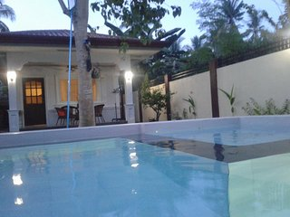 Alona Studio Bungalow Panglao with your own private pool and garden. Sleeps 4