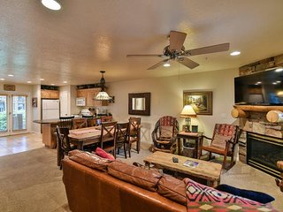 Deluxe 3 BR condo with a rear walkout directly to the hot tub