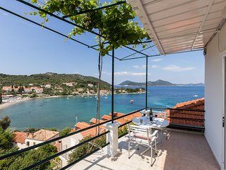 Apartments Miskovic - Duplex One Bedroom Apt with Balcony and Sea View (West)