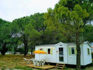 Mobil home 6 personnes a 10min des plages Camping Ensoya *** Sigean