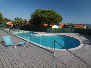 Collioure house with Sea views from both balconies and a  large shared pool