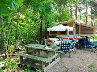 Summerland Tent Trailer in a Campground