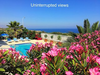 Sunset villa, Esentepe on sea - luxury sea front villa with pool & superb views