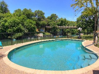 Treetop Villa! 2/2 Right on the Comal and across from Schlitterbahn!
